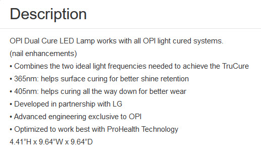 Opi Led Lamps Black Metal Vs White Lamp Vs Dual Cure